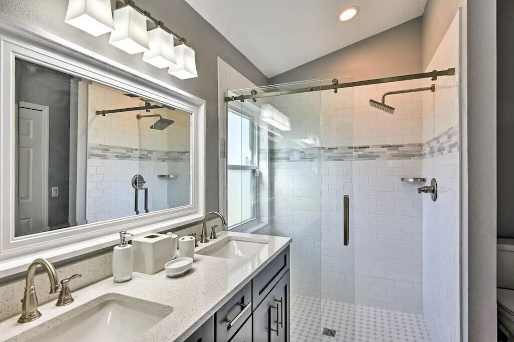 Master Bathrooms with Quartz Counter Tops