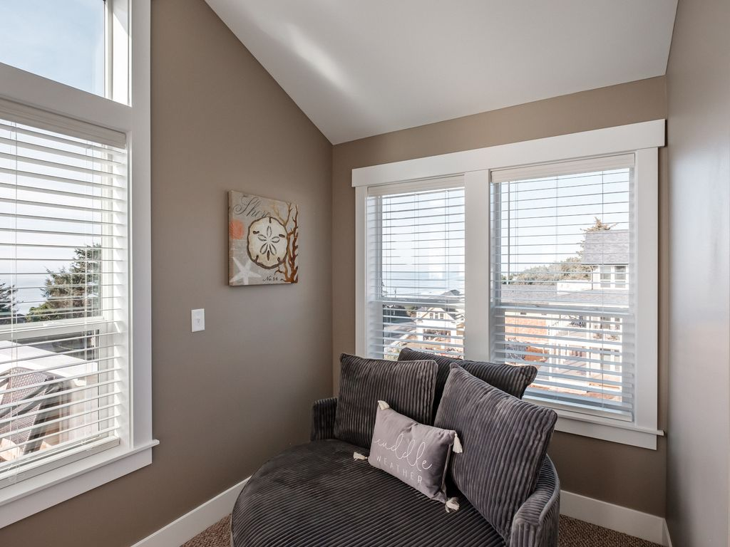 This nook is the perfect place to curl up with a cup of coffee and a book!