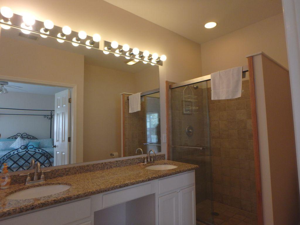 Double vanity and walk-in  shower