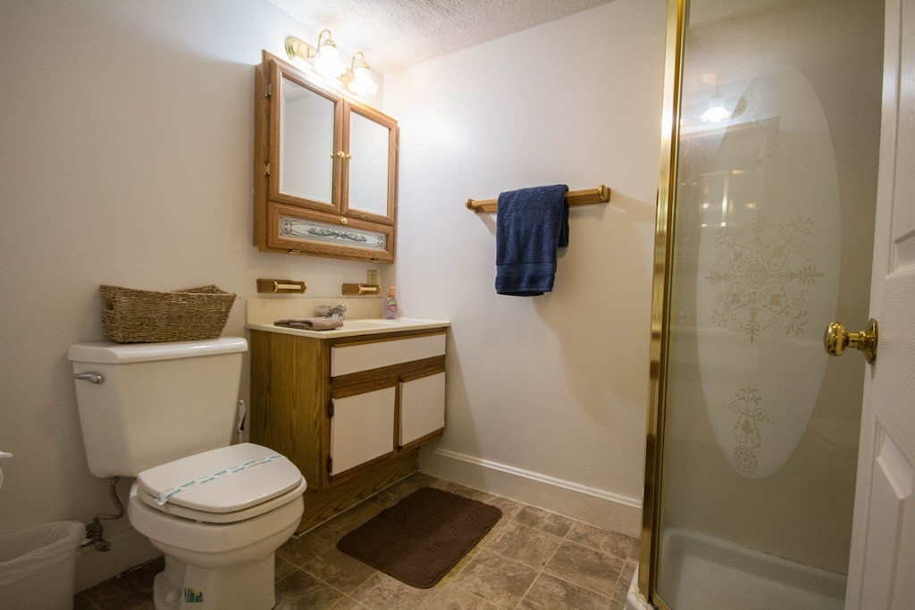 Third full bathroom attached to private bedroom