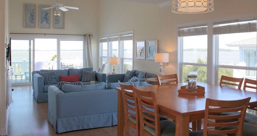 As you enter our home you are surrounded by ocean views!