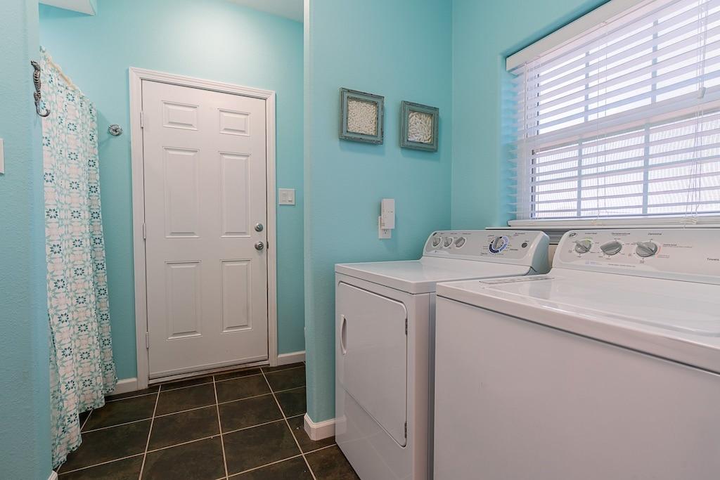 laundry and main level bathroom