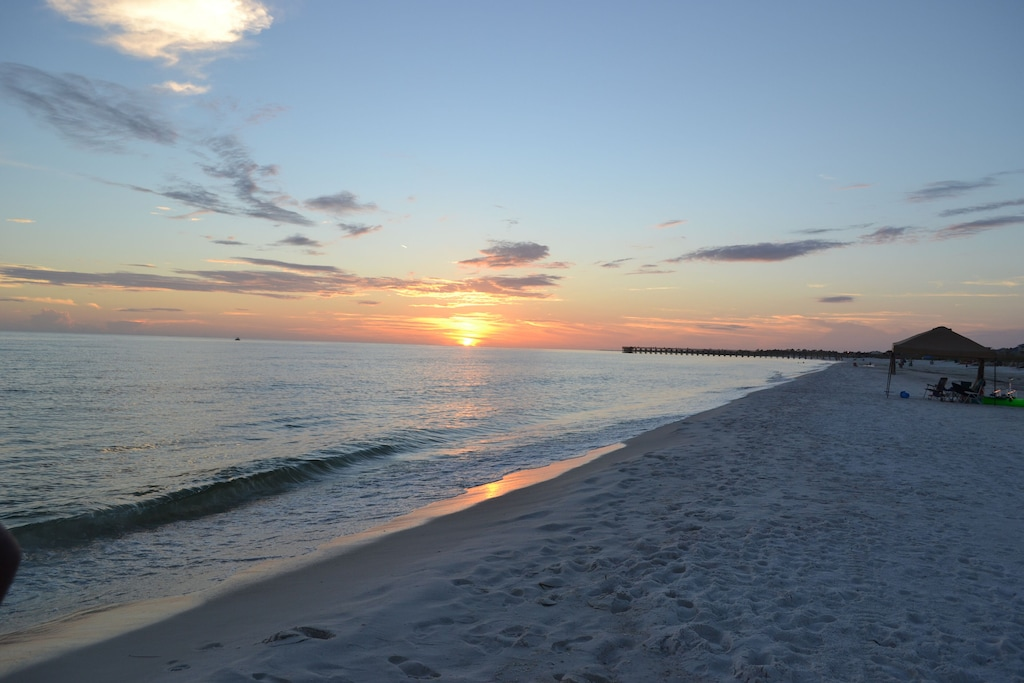 Sunsets in Mexico Beach are one of the highlights of the day. Enjoy and say ahhhhhh.