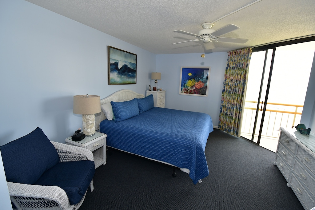 Master Bedroom,New King Size Mattress/ Box Spring. Terrific Ocean Views from Bed