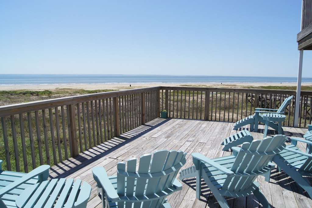 View from the deck -6 adirondack chairs available for lounging
