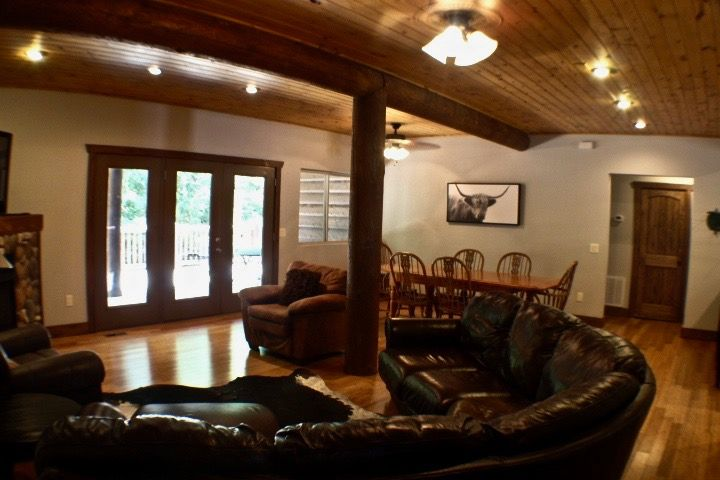 Large dining area downstairs and up!