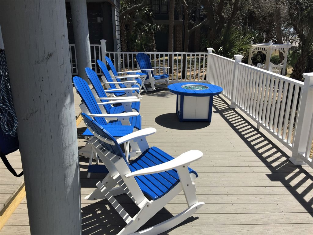 Lower Level Deck,  fire pit and rockers!