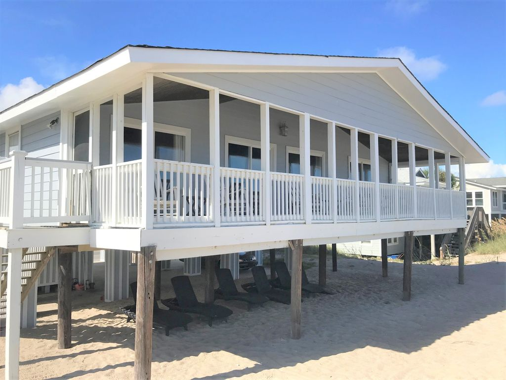 Beachside covered porch.