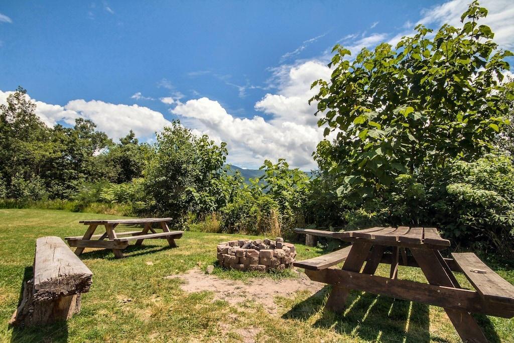 Campfire and picnic area