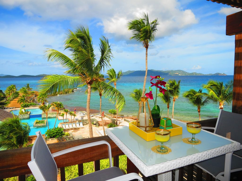 Have a drink with view to BVI and St. John on your own 2nd floor