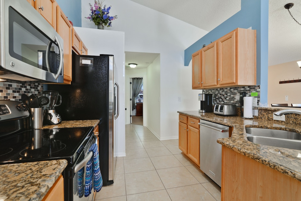 And all stainless steel appliances.