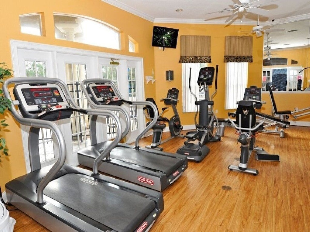 The fitness room at the clubhouse.