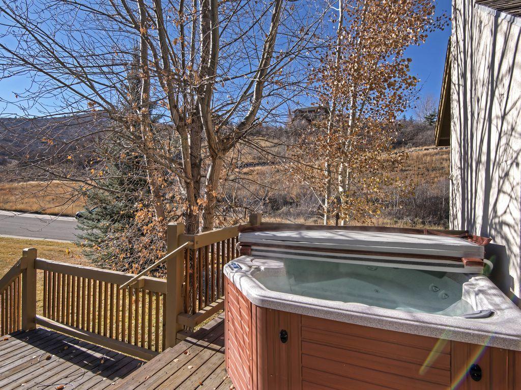 Private hot tub on private deck.