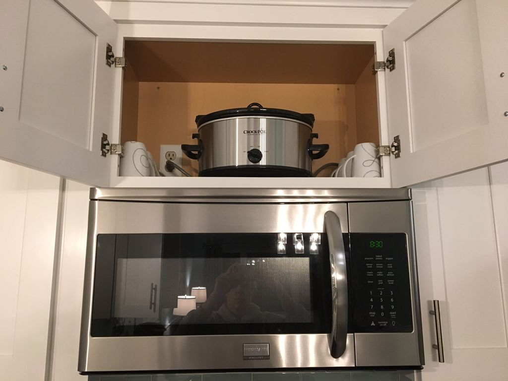 Crockpot located above microwave, PLEASE hand wash & return to its spot if used!