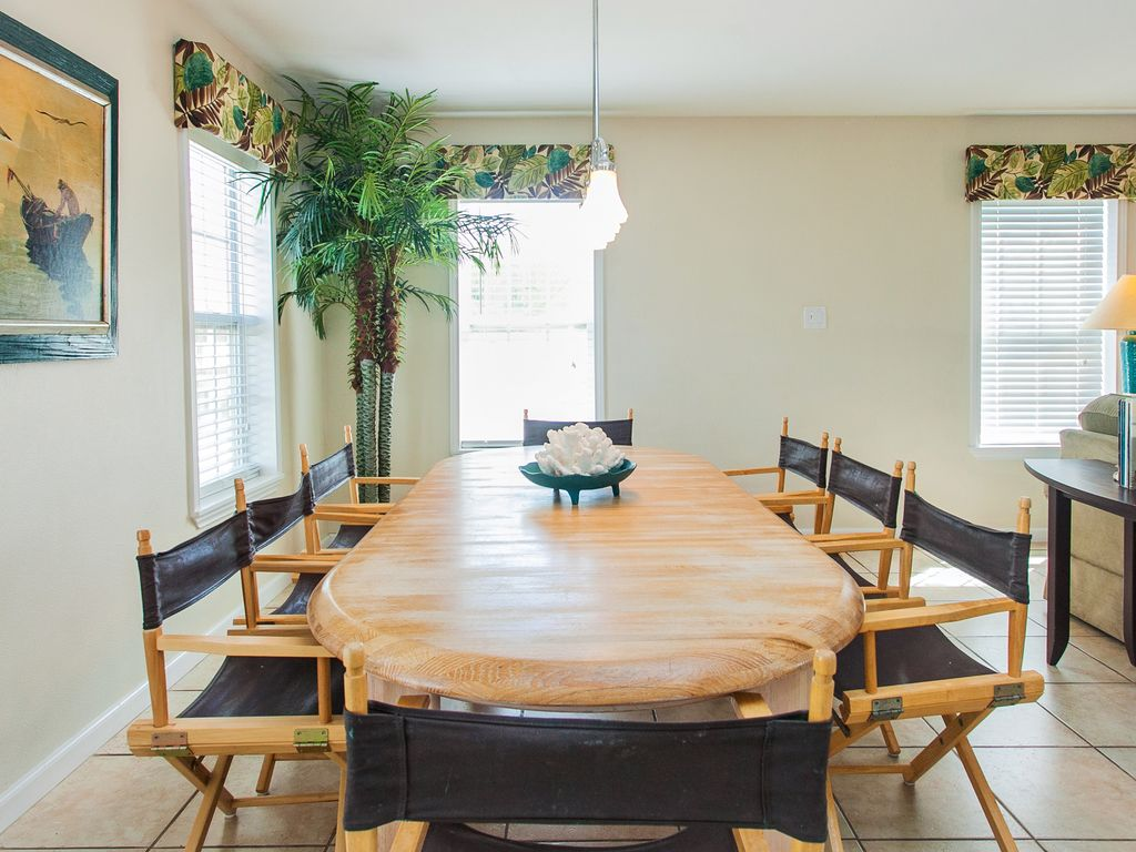 Giant Dining Table open to living room