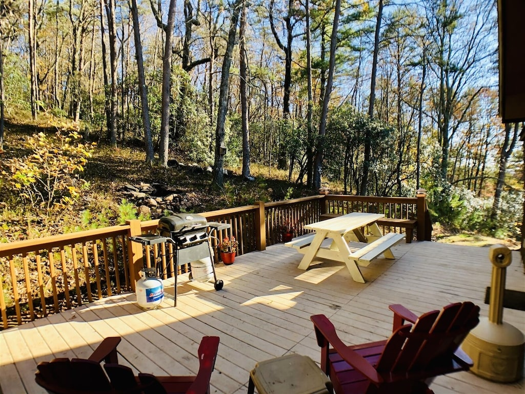 Back Deck with Gas Grill and outdoor seating