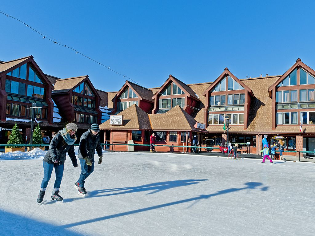 Ice skating at Park City Resort base