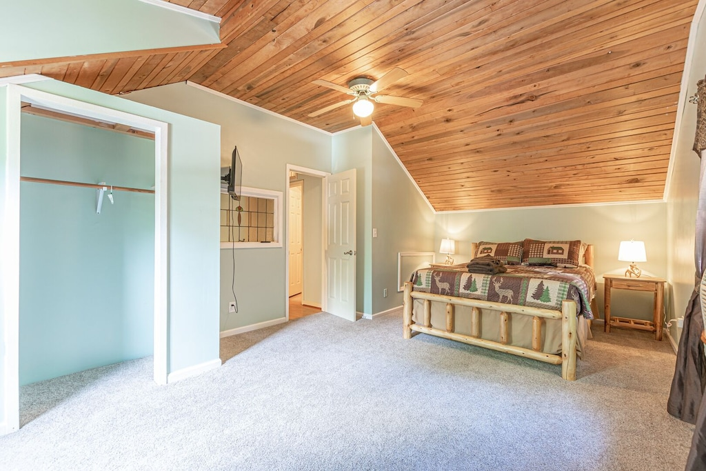 Upstairs Guest Queen Log Bed