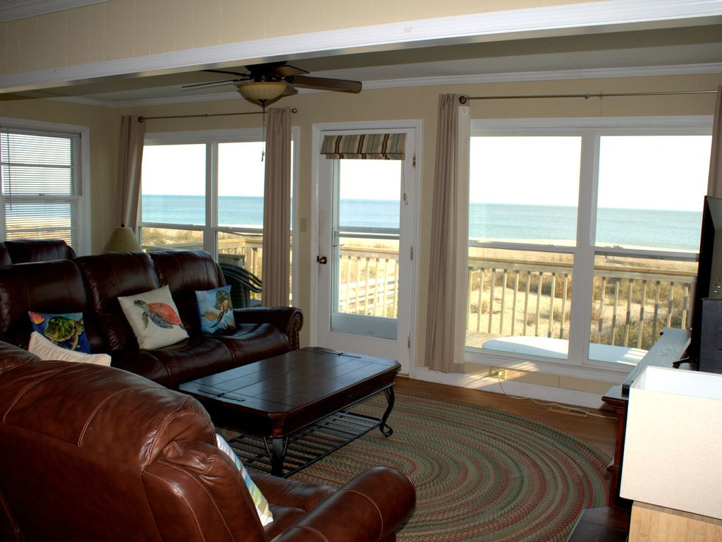 Beautiful view from the Family room of the beach!