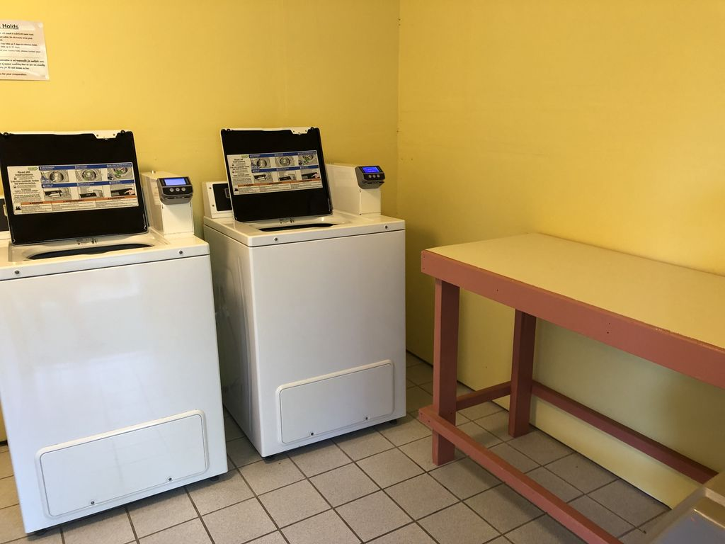 Laundry facilities just steps from condo.