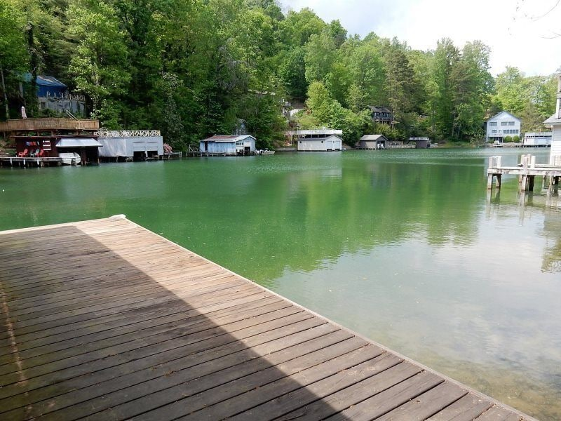 If you prefer to stay on land, just sit on the deck and dangle your feet in the water.