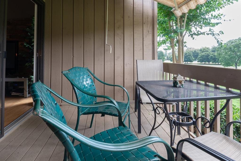 Enjoy the fresh air on the deck