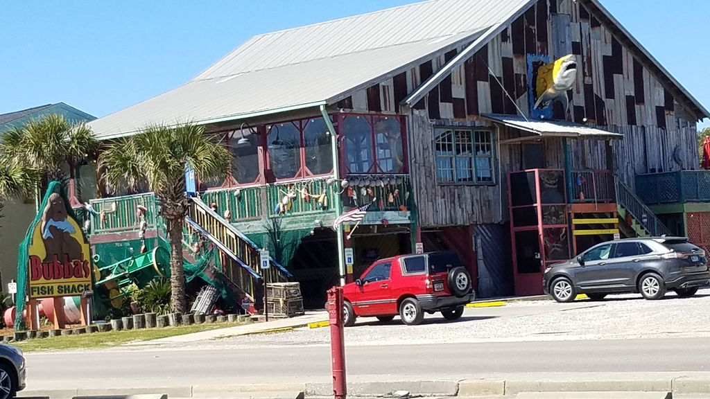 Bubba's fish camp in Surfside- one of may retaut=rants and taverns