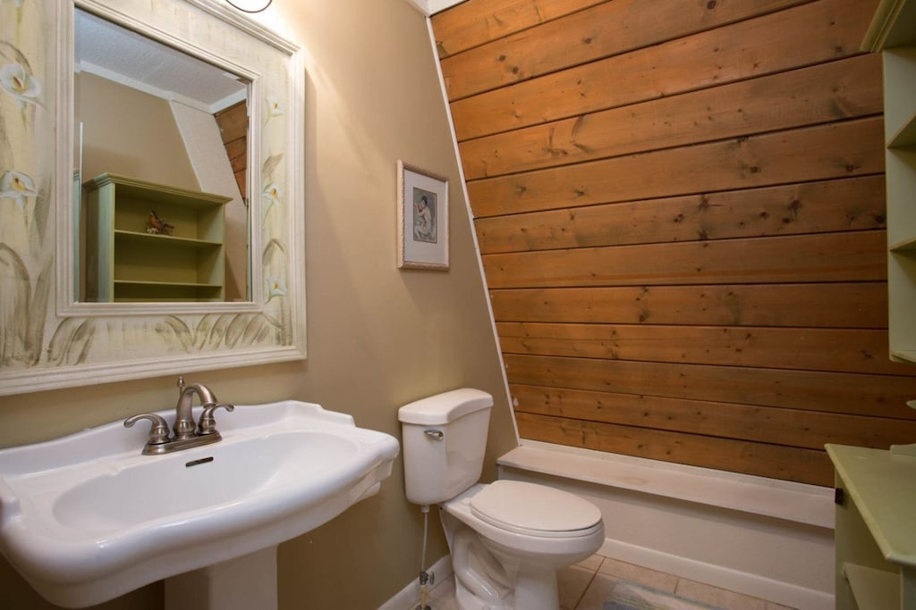 There is also a half bath.