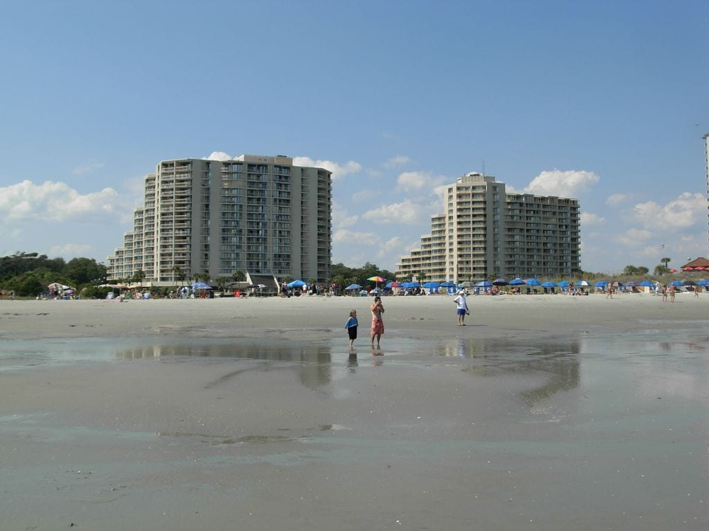 View of North & South Tower from the Beach