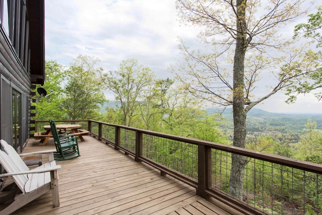 It is the view from the deck that will take your breath away.