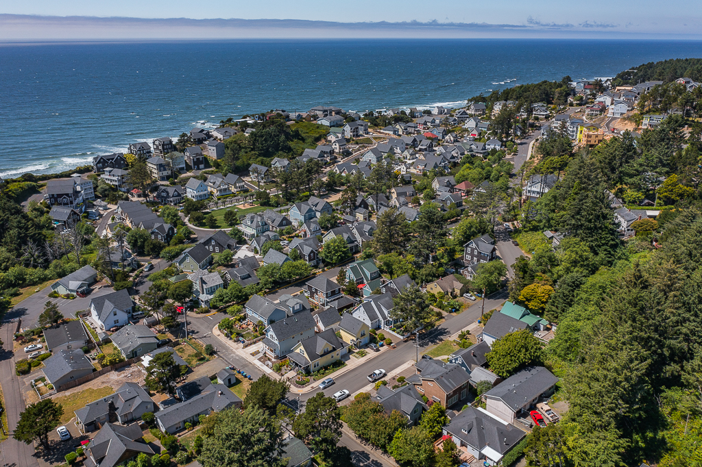 Nestled into the vale between shore and forest, adjacent Olivia Beach community, in Lincoln City.