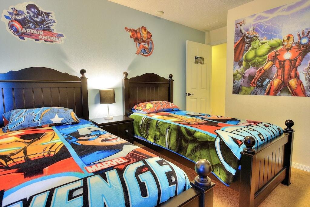 The Avengers kids room.