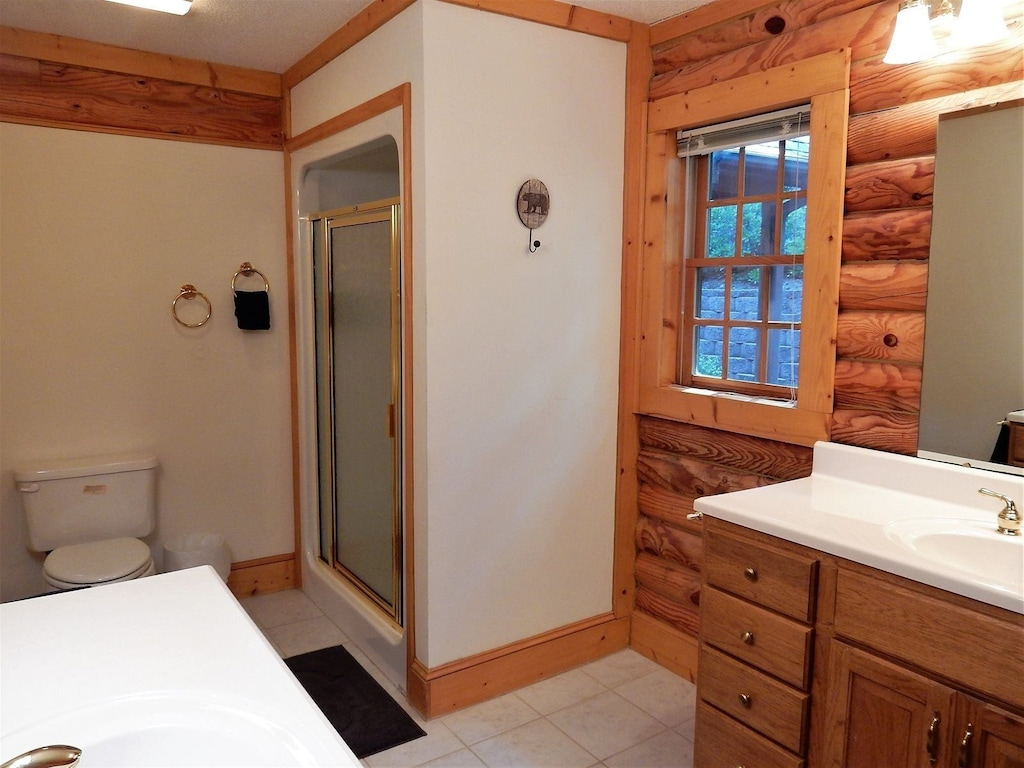 Additional view of bathroom with shower