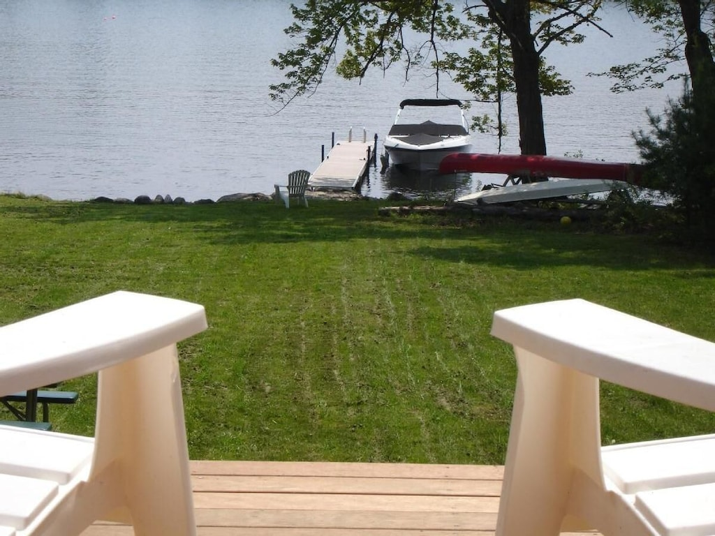 Lake view of our dock area from Deck