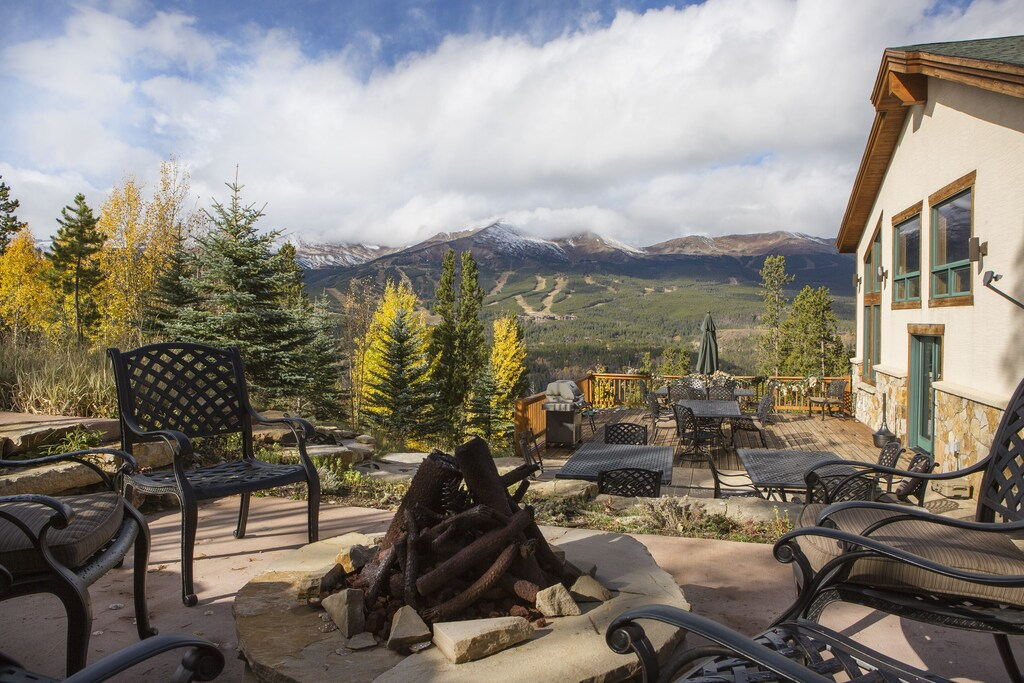 Gas Fire Pit - View of ski area gas fire pit overlooking patio