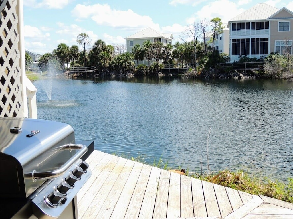 Gas grill deck