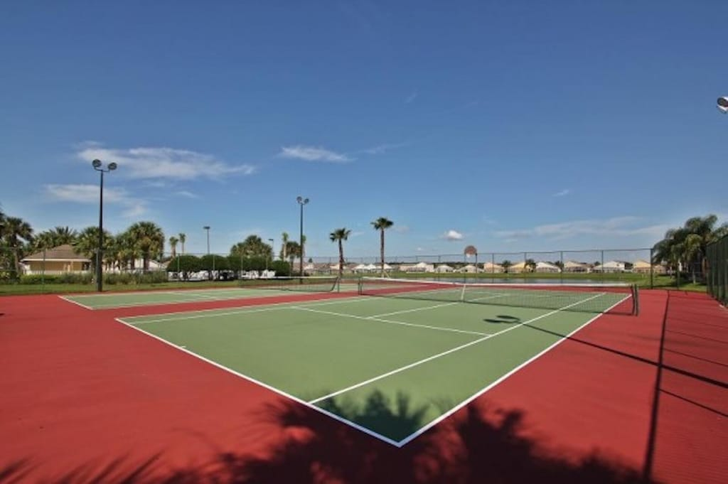 Tennis courts in the resort