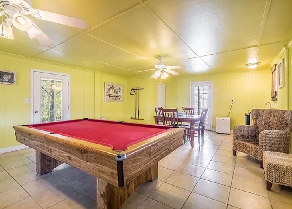 Pool table room downstairs