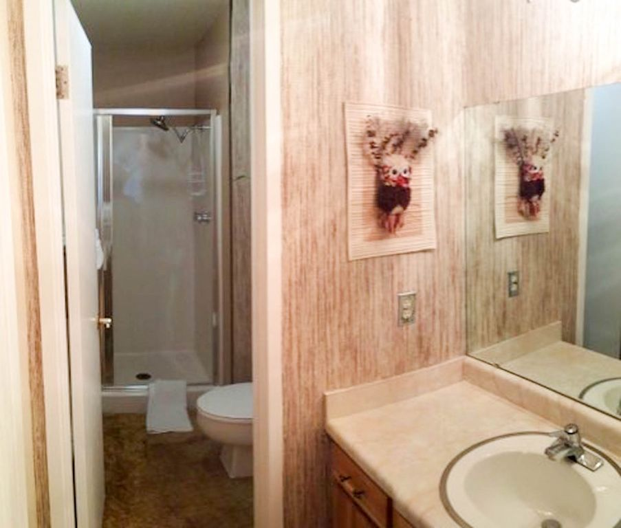 Bathroom attached to master bedroom