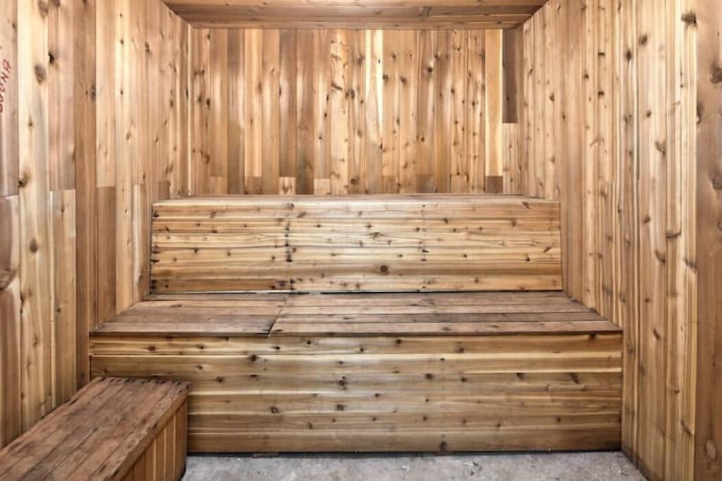 If your not relaxed enough by now, enjoy this blissful indoor sauna