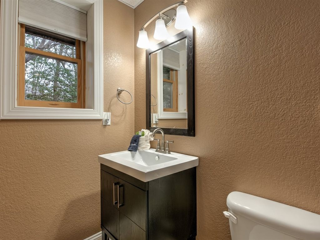 The lower level bathroom.
