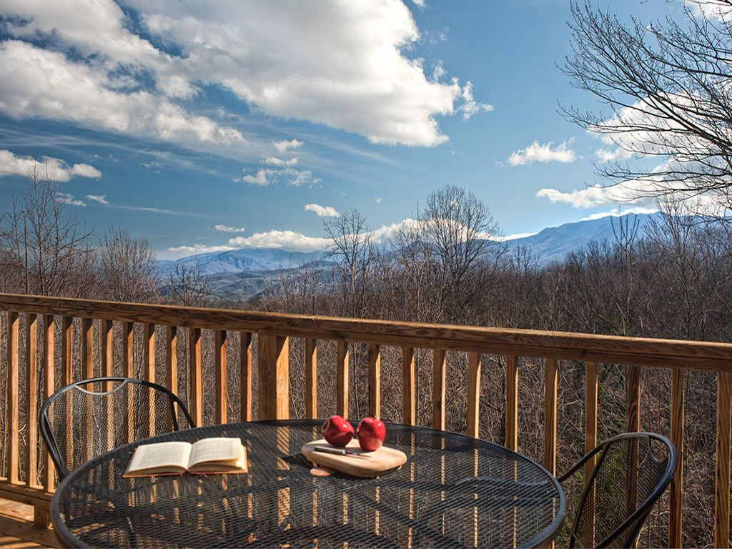 Deck view of the National Park. Great place for friends & family to relax.