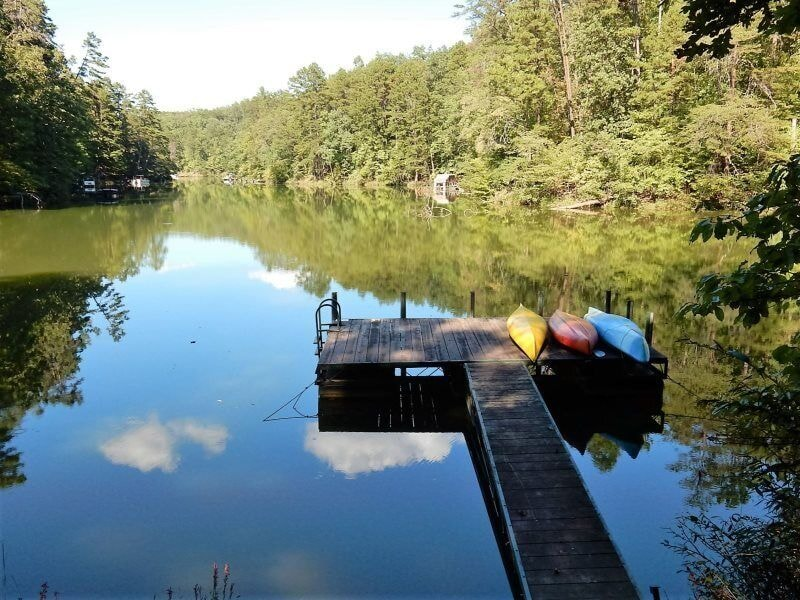 Lakefront Melody is on peaceful Lake Adger and, with this view, we must begin with the outdoor amenities.