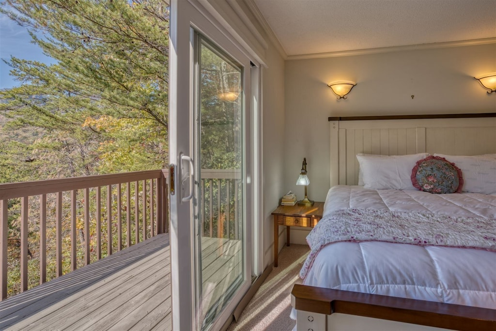 Open the sliding glass door to lead in all that wonderful Mountain air