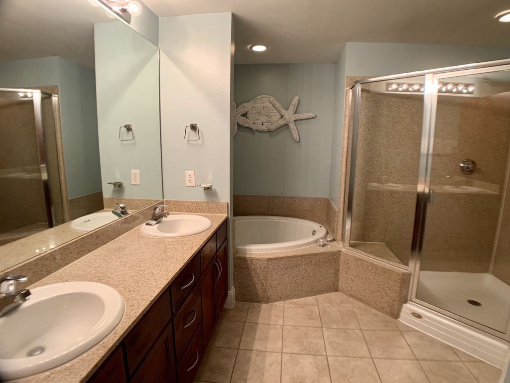 Very spacious master bath
