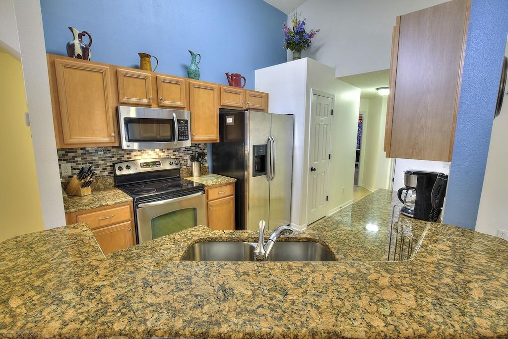Granite countertops in the kitchen...