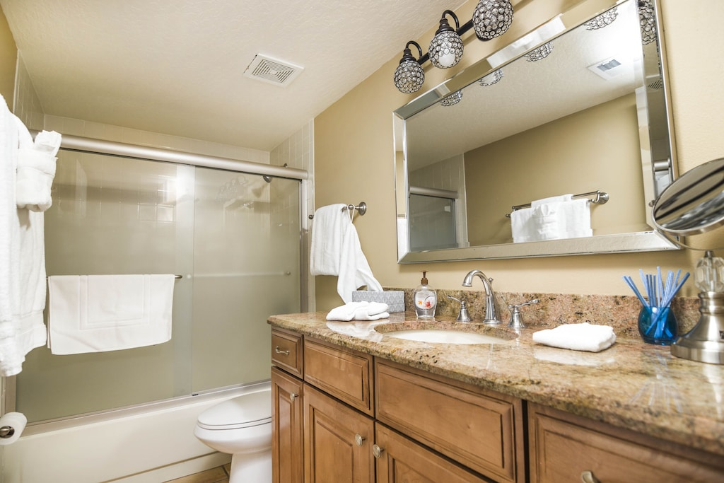 Guest Bathroom has a Tub/Shower Combination