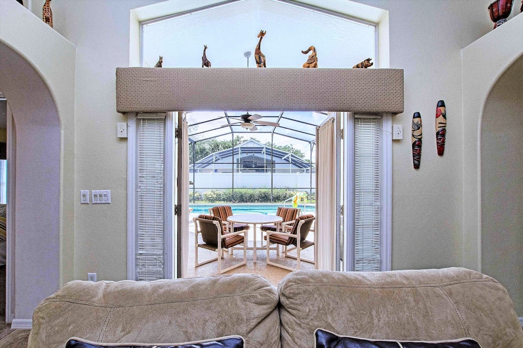 The French doors open to the lanai.
