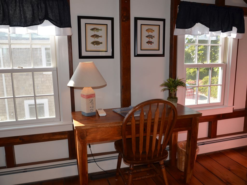 Private writing desk and work area off of the sitting room on the 2nd floor.