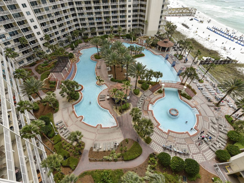 Beautiful view of the pool area